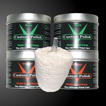 Custom Polish Polierset 1600g Chrompolitur Aluminiumpolitur Chrom Edelstahl Alu Politur Polieraufsatz In Kegelform Einweg Verpackung Auto