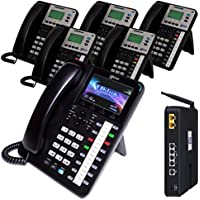 Xblue X25 Phone System with 1 X4040 Vivid Color Display IP Phones & 5 X3030 IP Phones- 3 VoIP Lines for 3 months free
