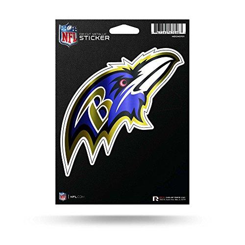 Rico Industries NFL Baltimore Ravens Die Cut Metallic StickerDie Cut Metallic Sticker, Purple, 5.75 x 7.75-inches