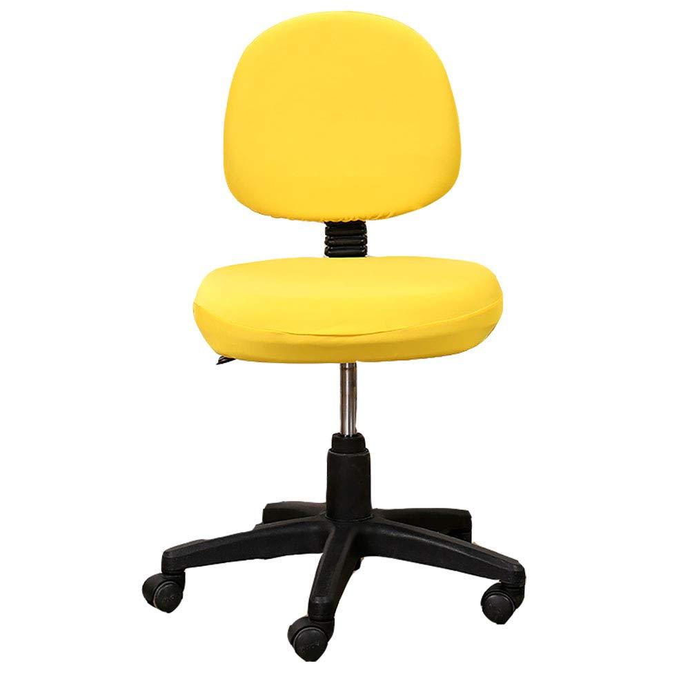 Housse de si/ège Brown Ximai Lavable Amovible Housse de Chaise de Bureau dordinateur Extensible Couleur uni Protecteur Couverture arri/ère