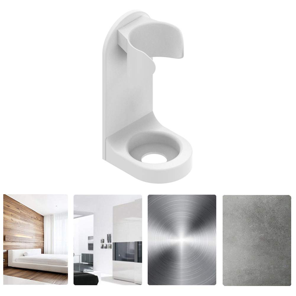 Good for Home Anti-stain Traceless Punch Free Wall Mounted Elastic Buckle Design Electric Toothbrush Stand with a Water Outlet On The Bottom Electric Toothbrush Holder white Hotel and Travel
