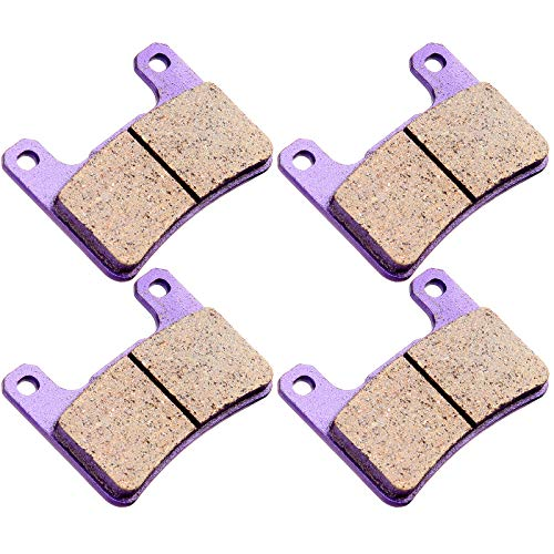 (CCIYU Front Carbon Fiber Brake Pads Motorcycle Motorbike Replacement Brake Pads Fit For 2008 2009 2010 2011 Kawasaki, 2004 2005 2006 2007 2008 2009 2010 2011 Suzuki)
