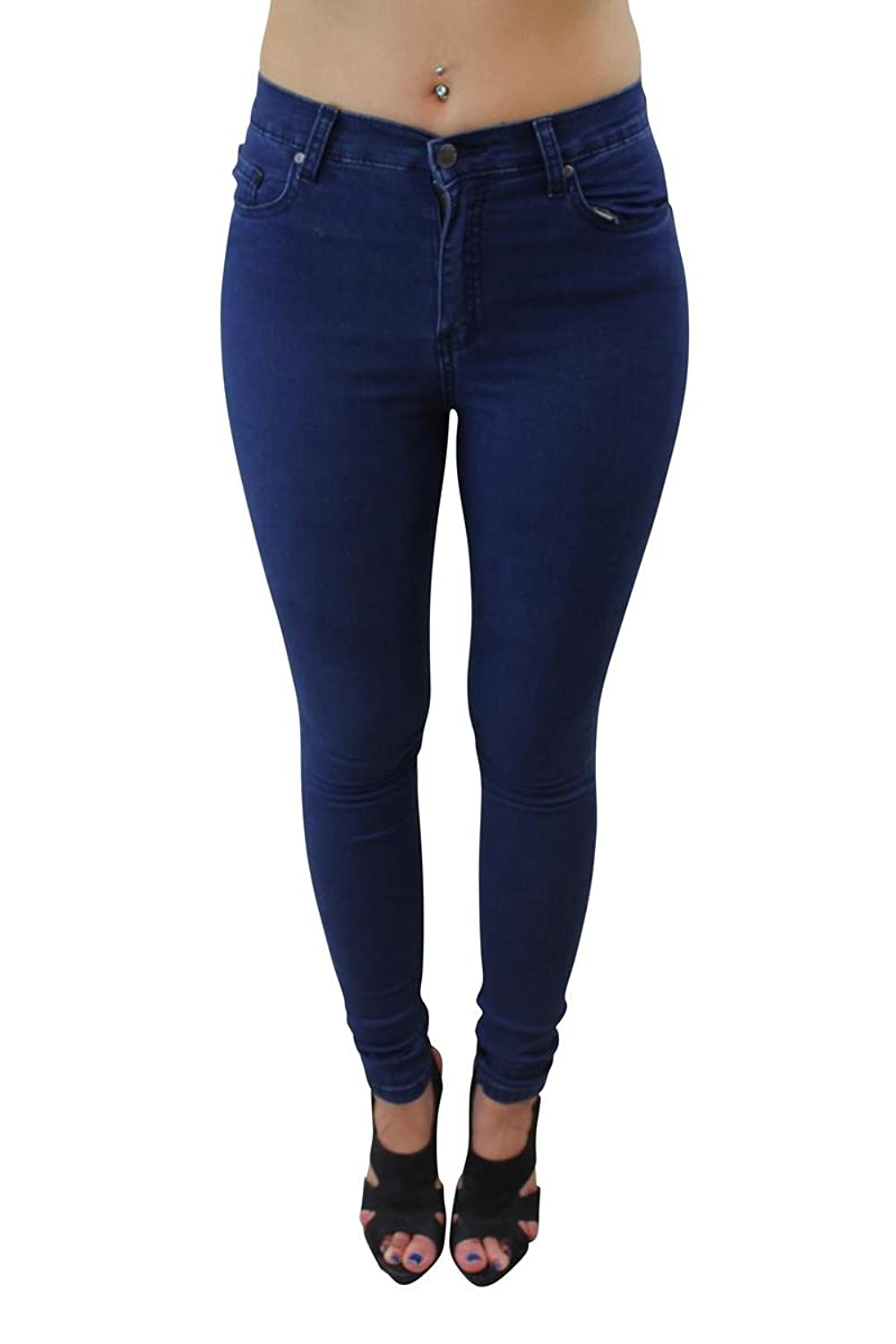 Girl Talk Clothing Mid Wash Blue Skinny Jeans