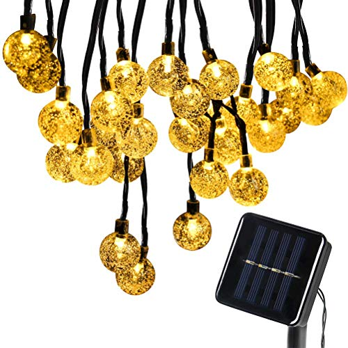 AGPtek® 30 LED Solar Powered Waterproof String Lights, Perfect for Outdoor Garden Patio Party Wedding Christmas Xmas Lighting Tree-Wrap Decoration (Crystal Ball, Warm White)