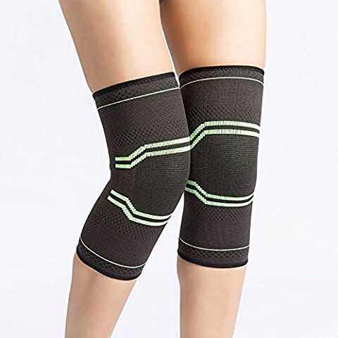 SUGIFT Knee Sleeve,Compression Knee Brace for Athletics, Sport, Workout, Powerlifting, Squats, Running, Jogging, Walking, Hiking and More - BEST Knee Support .(1 Pair)