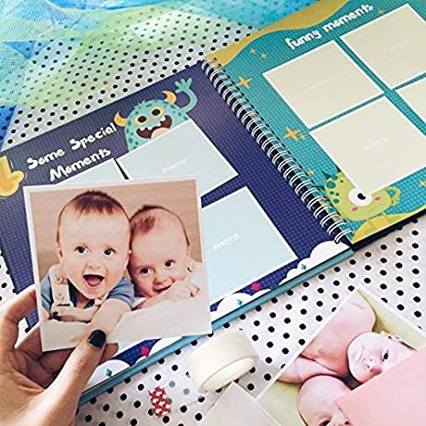 Perfect and Unique Gift Idea for Baby Showers and Birthday Presents Newborn Babies 1st Year Journal and Milestones Photo Album Baby/´s First 5 Years Hardcover Memory Book Little Dragon Edition
