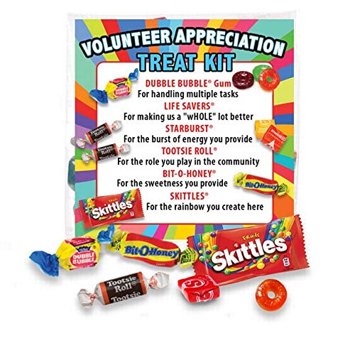 Volunteer Appreciation Treat Survival Kit (6 per pack) Gifts for National Volunteer Week -