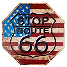 dojune-Decor Signs Stop The Mother Road Route 66 Novelty Funny Metal Sign Octagon 1212 inch