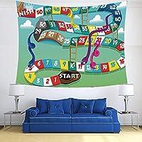 Tapestry,Hippie Tapiz,tapiz de pared con decoración para el hogar,Juego de mesa, serpientes remolinadas y escaleras Inicio y línea de meta,para picnic Mantel o Toalla de Playa redonda 150 x 200 cm: Amazon.es: