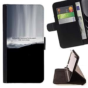 - ACHIEVE QUOTE PAIN LIFE SPECIAL THING SOME - - Prima caja de la PU billetera de cuero con ranuras para tarjetas, efectivo desmontable correa para l Funny HouseFOR Apple Iphone 5 / 5S