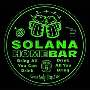 4 x ccq42151-g de la familia de la barra de inicio de nombre de SOLANA del regalo de la cerveza Pub 3D prácticos de costa
