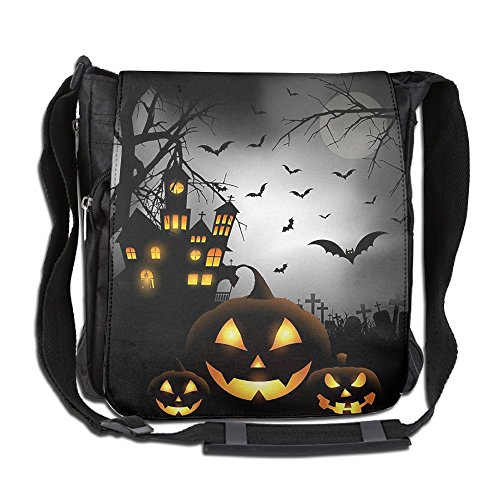 The Mysterious Halloween Castle Men Wowen Outdoor Messenger Bag School Bag Crossbody Shoulder Bag-Black