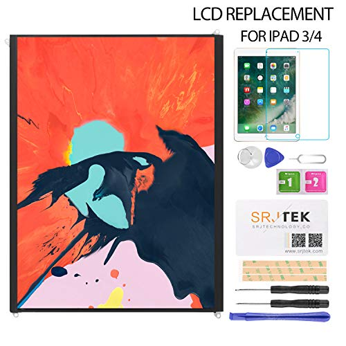 Srjtek LCD Display Screen Replacement Parts for IPad 3 IPad 4 Generation (9.7