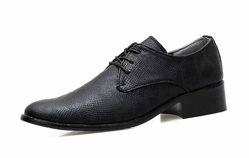 GLSHI Hombres Británico Zapatos De De De Vestir De Punta Afilados 2018 Zapatos De Negocios Nuevos Zapatos De Novia De Tacón Bajo (Color : Negro, tamaño : 39 EU) 66ca50
