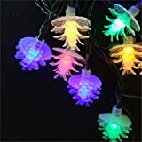 BGFHDSD Solar Pine Cone Led String Lights Christmas Tree Holiday Decoration Lighting Indoor Outdoor Fairy Light Solarie Cono Pino Changeable 22m 200leds