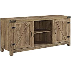 "Pemberly Row 58"" Barn Door TV Stand in Barnwood"
