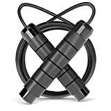 OMID Jump Rope, Skipping Rope Tangle-Free with Carrying Pouch for Men Women Children, Jumping Rope for Aerobic Exercise Like Speed Training, Endurance Training