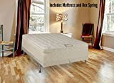 Spring Solution Long Lasting 10'' Pillowtop Fully Assembled Orthopedic Back Support CaliFor Mattressnia King Mattress and 8-Inch Split Box Spring,Deluxe Collection