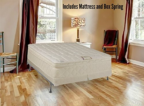 Spring Solution Long Lasting 10'' Pillowtop Fully Assembled Orthopedic Back Support  CaliFor Mattressnia King Mattress and 8-Inch Split Box Spring,Deluxe Collection by Spring Solution