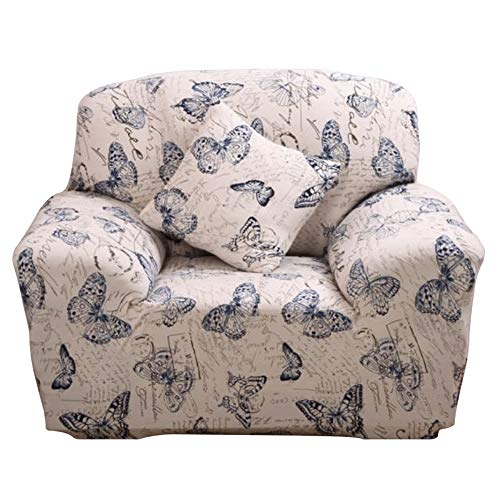 Fenstore Sofa Cover Loveseat Slipcover Jacquard Stretch Elastic Couch Covers Form Fit, Slip Resistant, Stylish Furniture Cover/Protector Home Decorative (Loveseat, Butterfly)