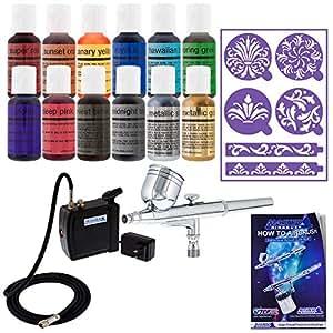 Amazon.com: Master - Kit de aerógrafo para decoración de ...