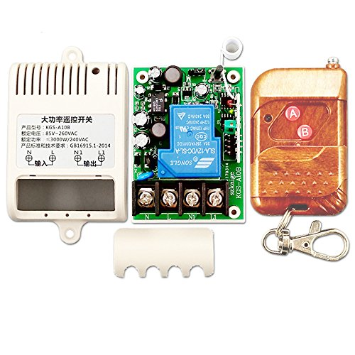 30a Electric Relay (Ximimark AC 220V Long Distance High Current 30A Relay RF Wireless Remote Control Switch,100m)