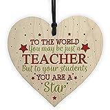hanging-SIGN Thank You Teacher Gift Wooden Heart Leaving Goodbye Teaching Assistant Nursery School Present