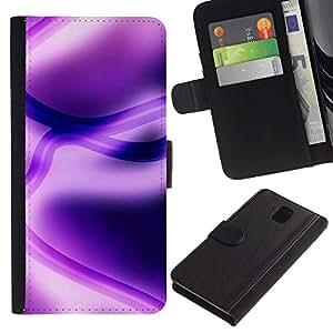 JackGot ( Viola astratto ) Samsung Galaxy Note 3 III la tarjeta de Crédito Slots PU Funda de cuero Monedero caso cubierta de piel