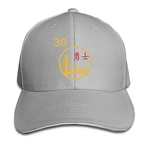 BOoottty GSW Warriors Stephen Curry Chinese New Years Flex Baseball Cap Ash