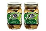 amish pickles - Amish Wedding Foods Sweet Garlic Dill Pickles 2 - 15 Oz Glass Quarts All Natural