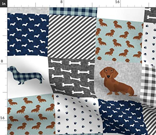 Used, Spoonflower Dachshund Dog Fabric - Dachshund Cheater for sale  Delivered anywhere in USA