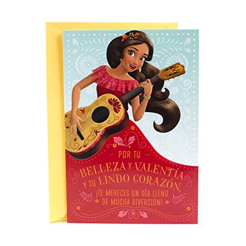 - Hallmark Vida Disney's Elena of Avalor Spanish Birthday Card for Kids with Stickers
