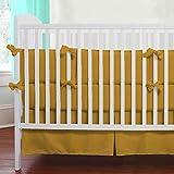 Nursery Baby Toddler Bed Bedding Set 100% Egyptian Cotton 500 TC 5-Piece Set Fitted Sheet, Skirt,Comforter,Flat Sheet,Pillowcase (Gold,Toddler Bed)