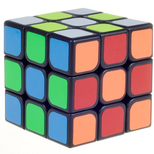 D-FantiX YJ Guanlong Speed Cube 3x3 Smooth Magic Cube Puzzles 56 mm Black by D-FantiX