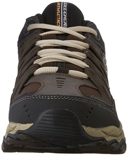 Skechers mens Afterburn M. Fit fashion sneakers, Brown/Taupe, 10 X-Wide US
