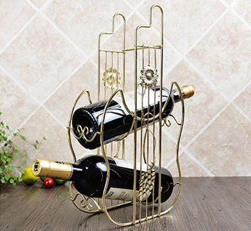 Golden Wine Holders Rack Creative Cabinet Decorations Botellas Hanging Bar European