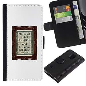 Planetar® Modelo colorido cuero carpeta tirón caso cubierta piel Holster Funda protección Samsung Galaxy S5 V SM-G900 ( Poster Notebook Diary White Text Writing )