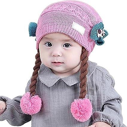 flyyfree hembra bebé peluca gorro 0 – 2 años de edad princesa primavera otoño invierno bebé