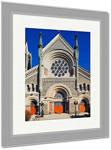 Ashley Framed Prints St Francis Xavier Catholic Church In Philadelphia USA, Wall Art Home Decoration, Color, 40x34 (frame size), Silver Frame, AG6485008 by Ashley Framed Prints