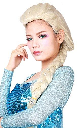 Halloween Princess Cosplay Wig Long Weaving Braid Hair Accessories Blond