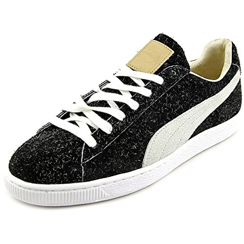 PUMA Select Men's Suede Angora Japanese Sneakers, Black/White, 11 D(M) US