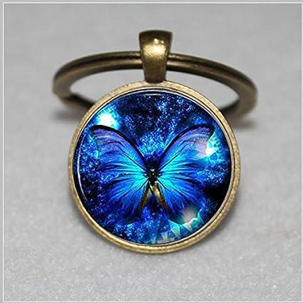 Blue Butterfly Keychain , Butterfly Keychain, Blue Keychain