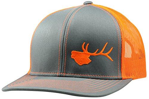 Lindo Trucker Hat - Bugling Elk (Graphite/Orange)