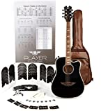 """Keith Urban Junior""""PLAYER"""" Tour Guitar 50-piece Package - Rich Black, Right"""