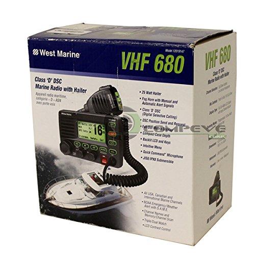 West Marine VHF 680 Class 'D' DSC Marine Radio Automatic - Import
