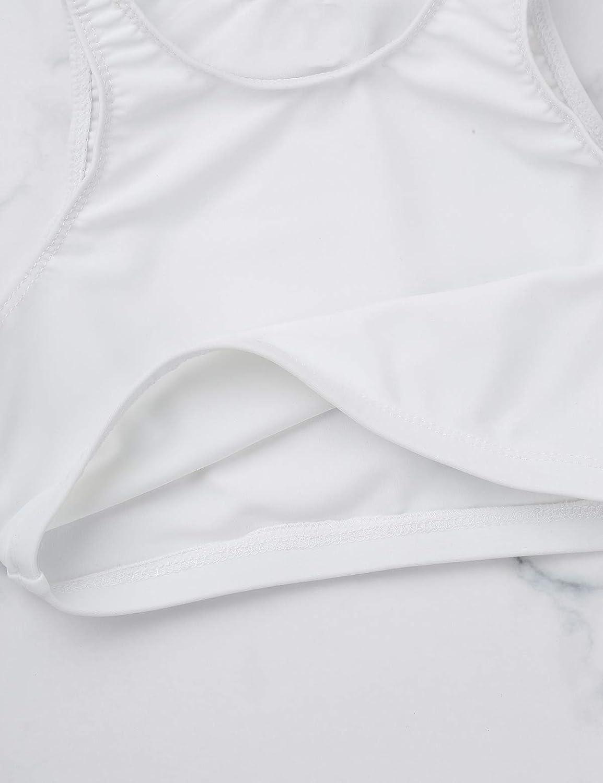 iEFiEL Kids Girls Gymnastics Workout Dance Sleeveless Cropped Tank Top Sports Bra Basic Activewear