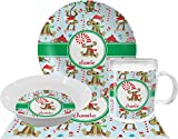 Christmas Monkeys Dinner Set - 4 Pc (Personalized)
