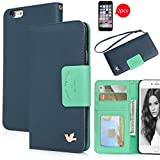 iPhone 6s Case,[4.7inch],Wallet Case,Premium PU Leather&Soft TPU Back,Impact Resistant&Scratch-proof Credit Card Holder,Magnetic Flip Cover[Blue]