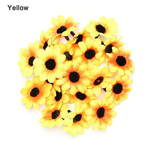 CoronationSun - Artificial Gerbera - 20pcs Artificial Gerbera Daisy Flowers Head Sunflower Cake Wedding Party Decoration Artificial Flowers