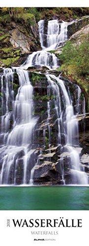 Wasserfälle 2018 - Waterfalls - Streifenkalender XXL (25 x 70) - Landschaftskalender